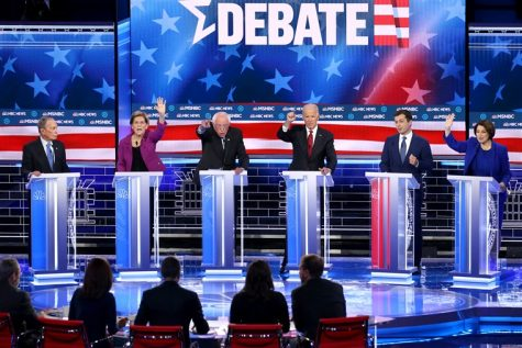 Six Democratic candidates vie for the moderators