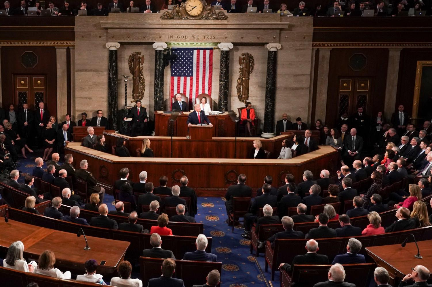 President Trump lauded economic prosperity, attacked Democrats, awarded a Medal of Freedom, and addressed upcoming legislation in the final address of his first term.